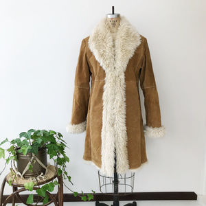 Wilsons Leather Suede Penny Lane Faux Fur Jacket